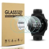 Diruite 4-Pack for Garmin Forerunner 935 Screen Protector Tempered Glass for Forerunner 935 [2.5D 9H Hardness] [Anti-Scratch] [Bubble-Free] - Permanent Warranty Replacement (Color: clear)