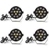 Donner Led Par Can Light DMX Lighting Stage Spotlight, DMX512 DJ Effect Light for KTV Bar Party 4-Pack DL-6