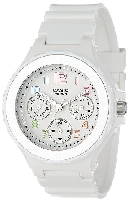 Casio Women's LRW250H-7B Silver Bezel Watch