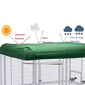 wonline Large Walk in Bird Cage, with Cover Top Parakeet Finch Budgie Conure Lovebird Aviary Pet House Heavy Duty White (Color: White Cage & Green Cover)