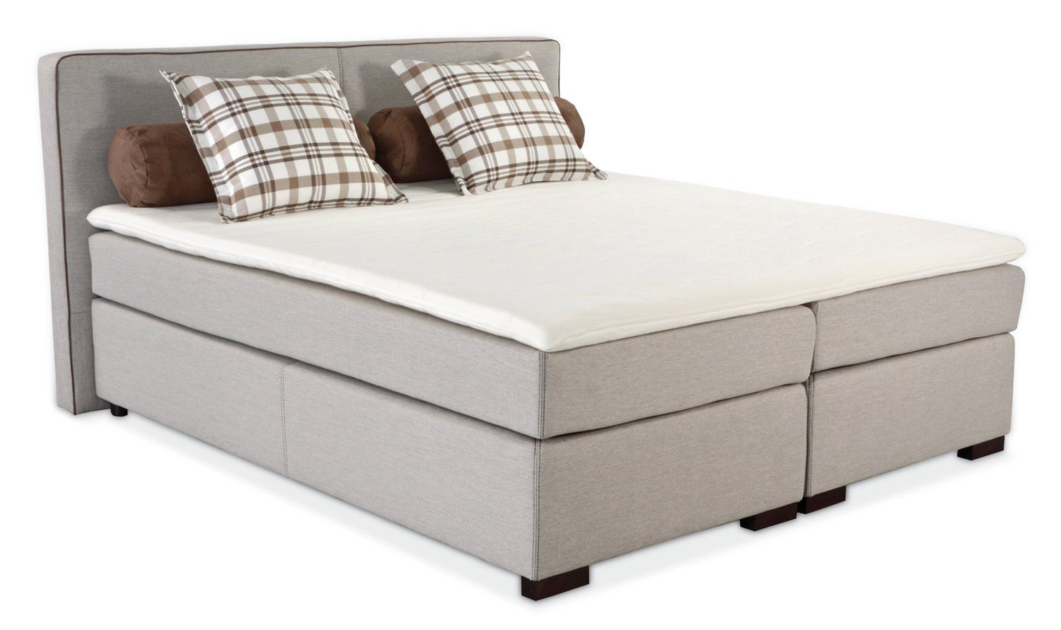 boxspringbett beige 5 sterne schlafkomfort 180x200 robert g nstig kaufen. Black Bedroom Furniture Sets. Home Design Ideas