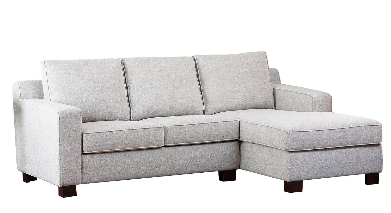 Abbyson Living Regina Fabric Sectional Sofa - Grey