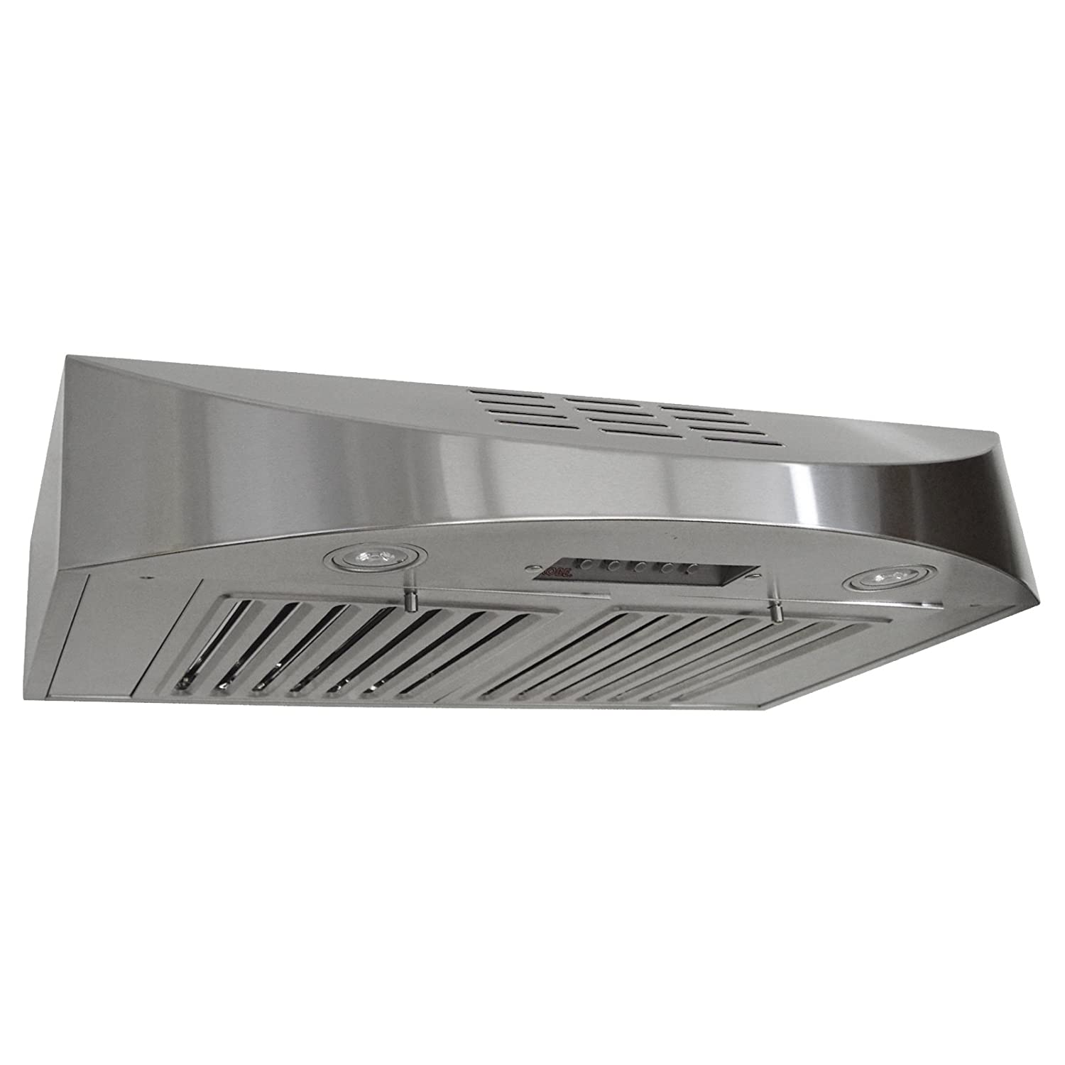 "KOBE Range Hoods CHX3830SQBD-3 Contemporary Brillia 30"" Under Cabinet Range Hood, 3-Speed, 400 CFM, LED Lights, Baffle Filters, Recirculating, Stainless Steel"
