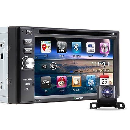 General c1314e 15,7cm Double 2DIN lecteur DVD de voiture RADIO stéréo Bluetooth GPS écran tactile MP3/USB/SD/lecteur CD (West l'UE Carte inclus), sans appareil photo