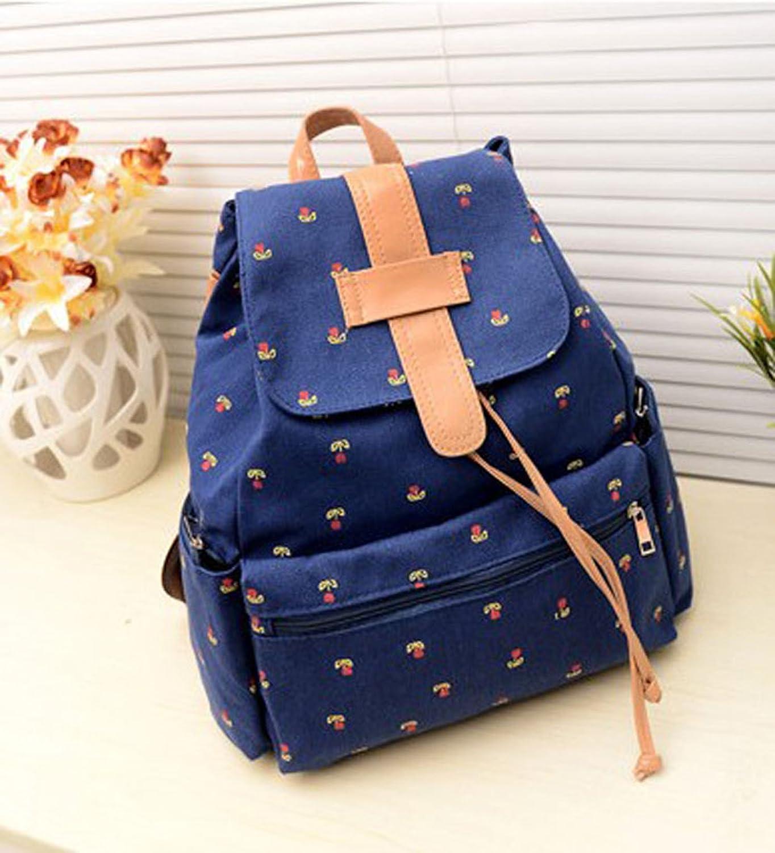 Amazon.com : ZPS Fashion Girls Canvas Pastoral Floral Flower Leisure Backpack School Bag (Blue) : Outdoor Backpack Reservoirs
