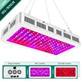 1500w LED Grow Light with Bloom and Veg Switch,Yehsence (15W LED) Triple-Chips LED Plant Growing Lamp Full Spectrum with Daisy Chained Design for Professional Greenhouse Hydroponic Indoor Plants (Color: White)