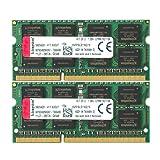 Kingston Technology 16GB Kit of 2 (2 x 8GB) DDR3 1600MHz Non-ECC CL11 SODIMM 1.35V Laptop Memory KVR16LS11K2/16
