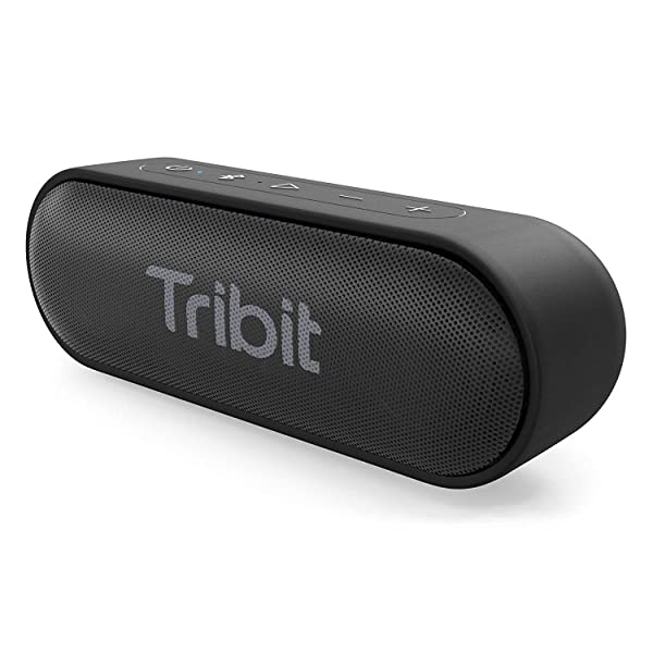 Tribit XSound Go Bluetooth Speakers - 12W Portable Speaker Loud Stereo Sound, Rich Bass, IPX7 Waterproof, 24 Hour Playtime, 66 ft Bluetooth Range & Built-in Mic Outdoor Party Wireless Speaker (Color: Black)