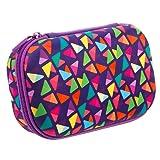 ZIPIT Colorz Pencil Case/Pencil Box/Storage Box/Cosmetic Makeup Bag, Purple (Color: Purple)