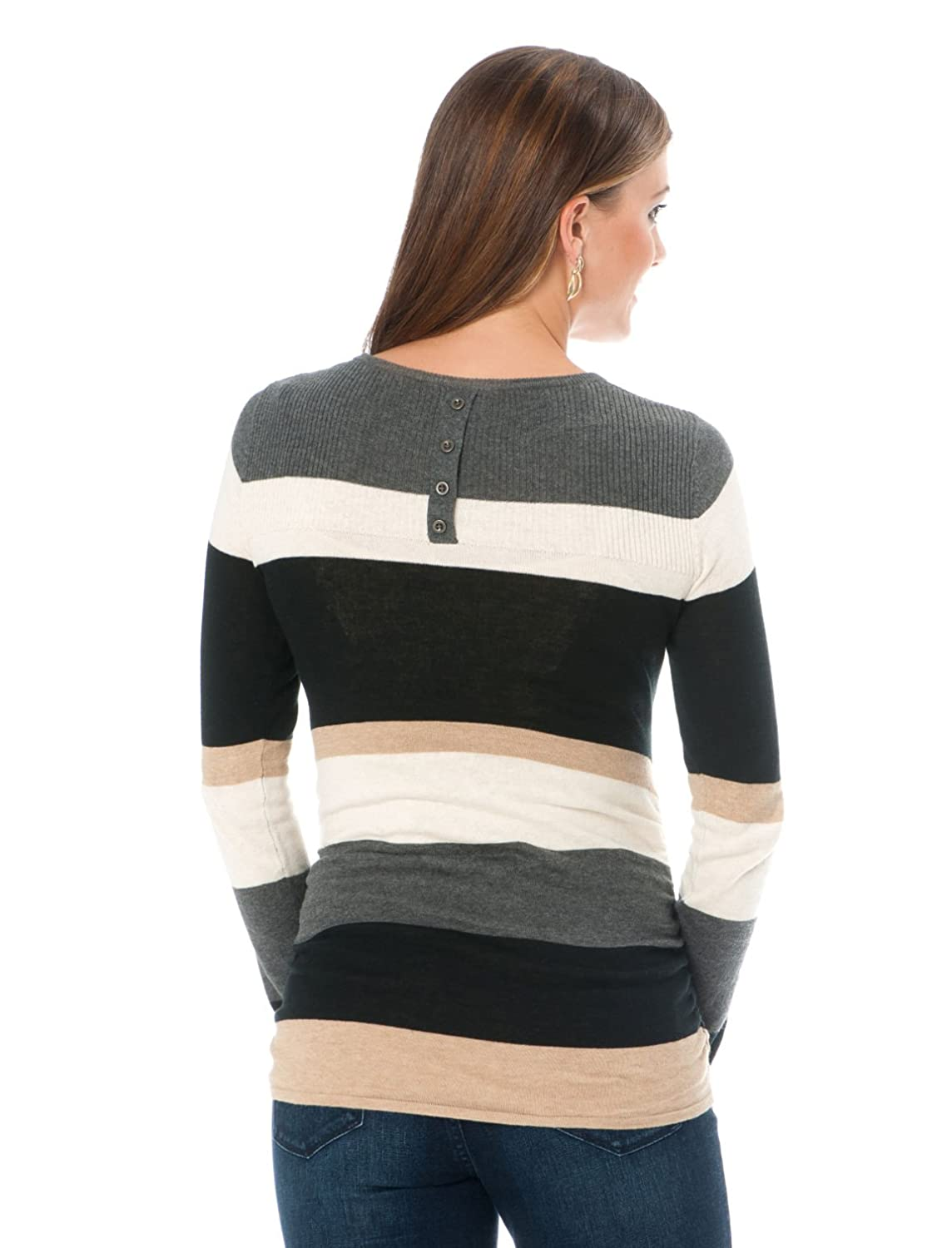 Motherhood Long Sleeve Ruched Maternity Sweater
