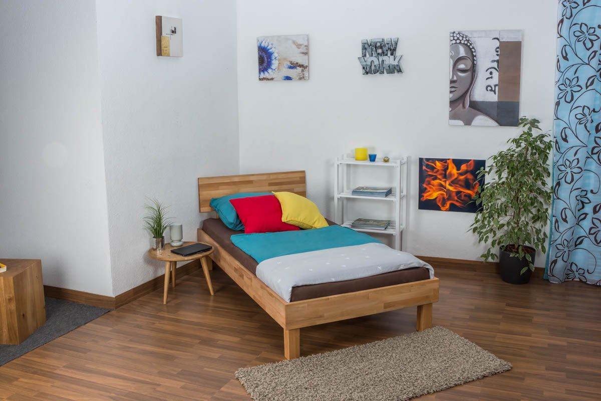 Jugendbett Wooden Nature 02 Kernbuche geölt – Liegefläche 100 x 200 cm
