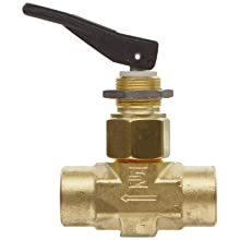 Parker VQ Series Brass Toggle Valve, Inline, Toggle Handle, PTFE Stem, NPT Female