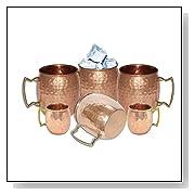 DakshCraft Handmade Pure Copper Hammered Moscow Mule Mug