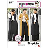 Simplicity 8177 Plus Size Pants Vest or Jacket, and Top Sewing Pattern For Women by Mimi G Style Sizes AA (10-18). (Tamaño: AA (10-12-14-16-18))