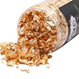 KINNO Gold Leaf Flakes, Copper Leaf Schabin Flakes, Color 2.5 Metallic Foil Flakes for Gilding, Painting Arts, Crafts Nails and DIYS (Color: copper, Tamaño: 10g)