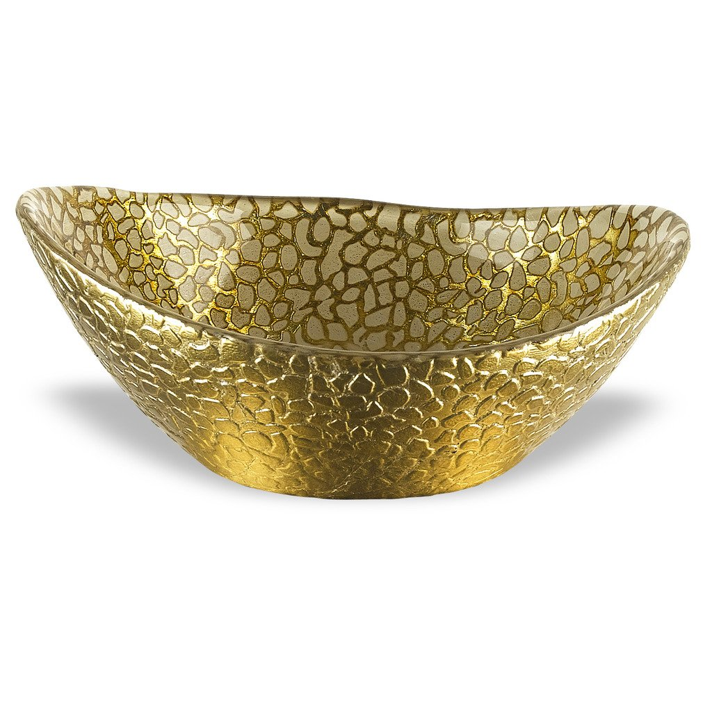 Badash Antique Gold Snakeskin Bowl, 6.3 by 5-Inch
