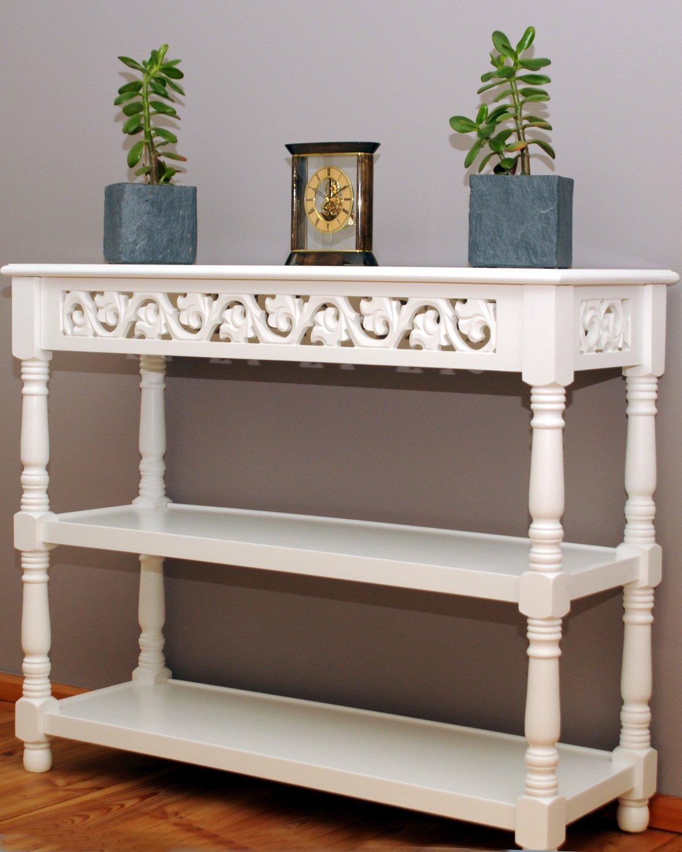 rezension tischkonsole konsolentisch mit ablagen antikwei g nstig wei antik klasse. Black Bedroom Furniture Sets. Home Design Ideas