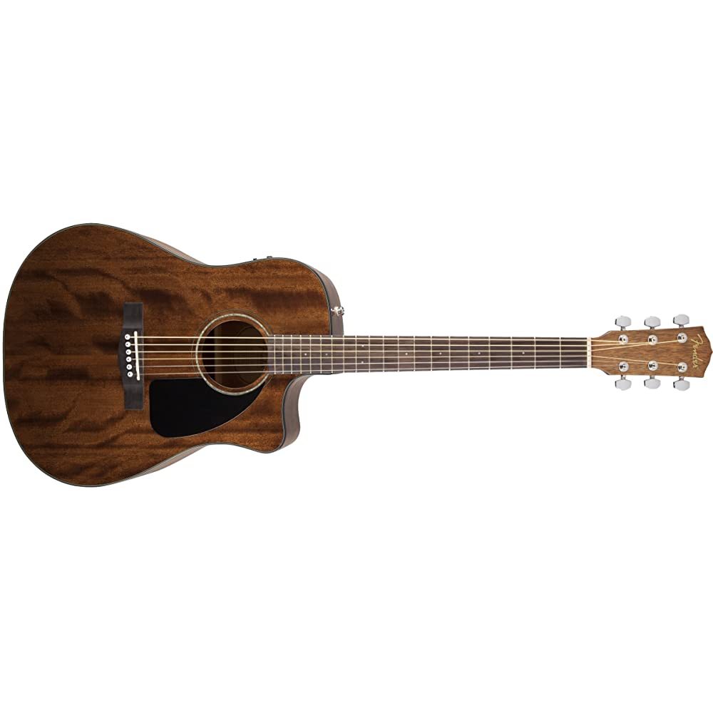 Fender CD-60CE Dreadnought Cutaway Acoustic-Electric Guitar with Hard Case - best beginner guitar under 300