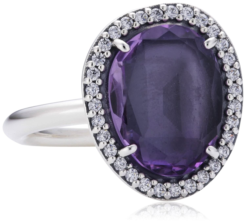 Pandora Damen-Ring 925 Sterling Silber Amethyst violett 190893AM online kaufen