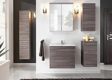 "Comad Cosmo Bathroom Set - 6-Piece in Avola Decor - With Wash Basin 23.62"" or 31.50"" - Wash Basin Width - 23.62"""