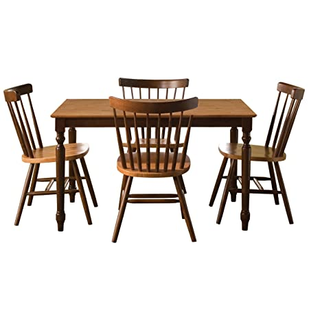 International Concepts 30 by 48-Inch Dining Table with 4 Copenhagen Chairs, Set of 5