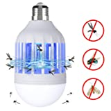 BLQH [2 packs] Bug Zapper Light Bulb,Insect Killer,Mosquito Zapper,Fly Killer,Mosquito Zapper LED Lamp,Electronic Insect Catcher Trap for Indoor Outdoor Home Garden Kitchen Backyard Porch Patio (Tamaño: 2P)