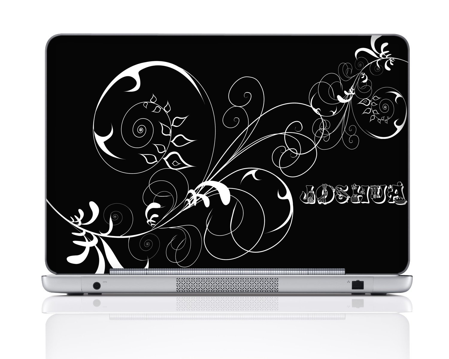 Meffort Inc® Personalized Laptop Notebook Skin Sticker Cover Art Decal, Customize Your Sticker Size & Name (Max Size: 16 X 11 Inch)