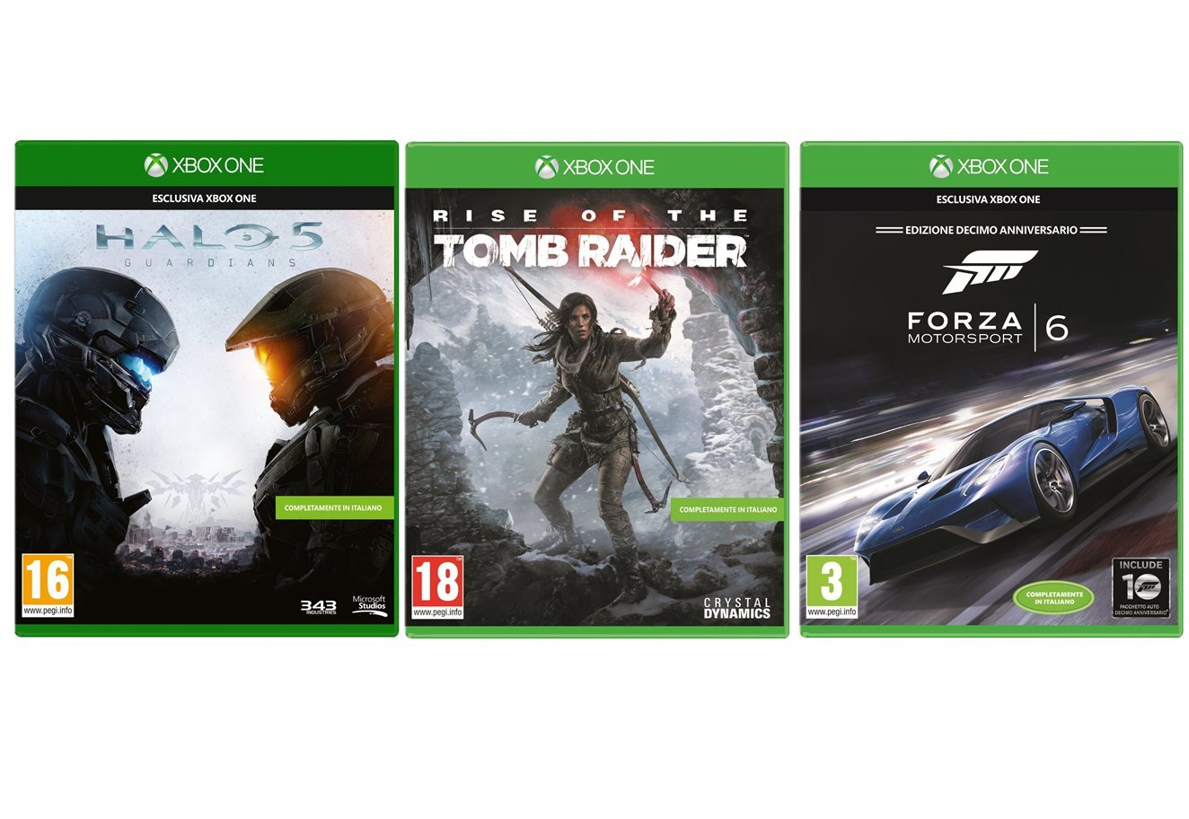 Bundle XboxOne in offerta da amazon: 3 Giochi