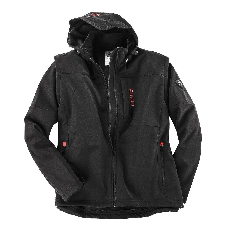 Soft Shell Jacke und Weste schwarz Brigg Übergröße günstig online kaufen