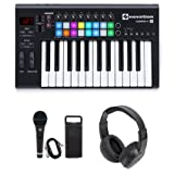 Novation LAUNCHKEY-25-MK2 USB MIDI Keyboard Controller + Mic + Headphones