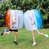Keenstone (Two Bumper Balls) Inflatable Bumper Ball 1.2M/4ft 1.5M/5ft Diameter Bubble Soccer Ball Blow Up in 5 Min Inflatable Bumper Bubble Balls for Adults (Color: Blue)