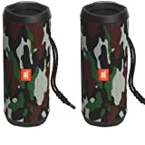 JBL Flip 4 Waterproof Portable Bluetooth Speaker (Pair) (Camouflage)