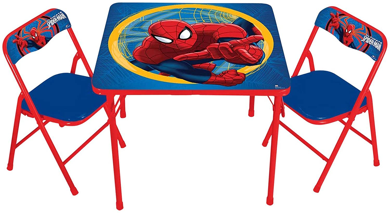 Kids Table and Chair Set Marvel Spiderman Activity