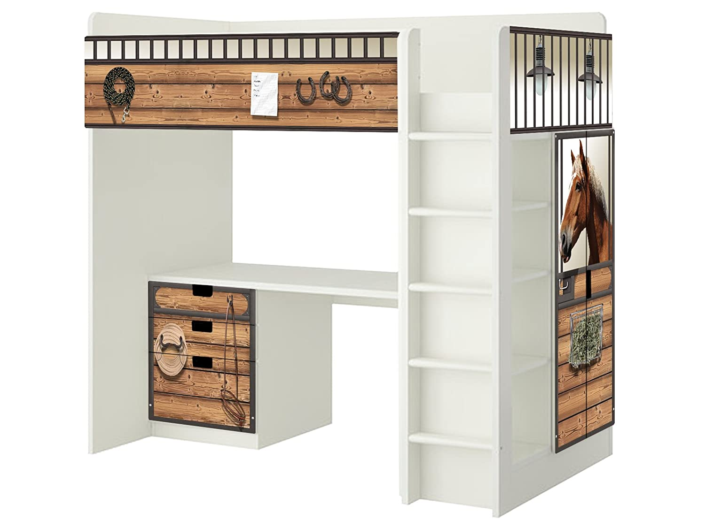 Pferdewelt Aufkleber – SH13 – passend für die Kinderzimmer Hochbett-Kombination STUVA von IKEA – Bestehend aus Hochbett, Kommode (3 Fächer), Kleiderschrank und Schreibtisch günstig online kaufen