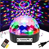SOLMORE 9 Color LED Disco Ball Party Lights Strobe Light 18W Sound Activated DJ Lights Stage Lights for Club Party Gift Kids Birthday Wedding Decorations Home Karaoke Dance Light (with Remote) (Color: Colorful)