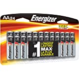 Energizer AA Batteries, Double A Battery Max Alkaline (24 Count) E91BP-24 (Tamaño: AA)