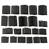 SOLOOP 381 Pcs Heat Shrink Tubing, 2:1 Shrink Ratio Assortment Wire Wrap Electrical Cable Tubing Sleeving (Black)