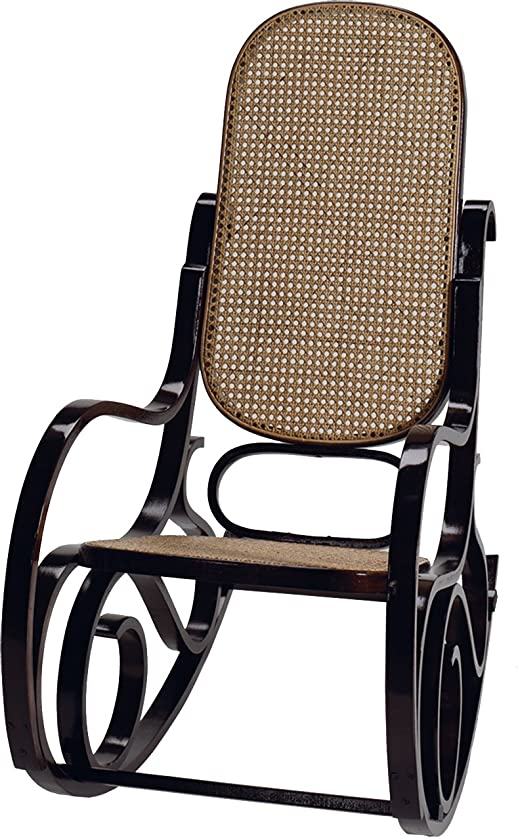 Poltrona rocking-chair Chair Ombra wengé Cannage Rattan