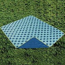 All Weather Diagonal Plaid Travel Blanket 60 by 72-Inch Dark Blue