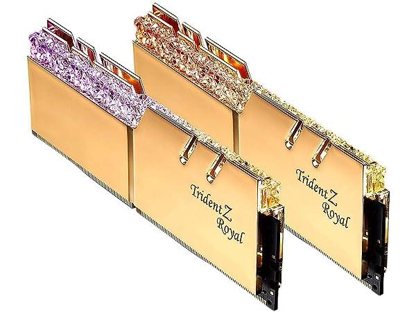 G.SKILL Trident Z Royal Series Gold 16GB (2x8GB) 288-Pin RGB DDR4 4266 (PC4 34100) DIMM F4-4266C19D-16GTRG (Tamaño: 16 Gb)