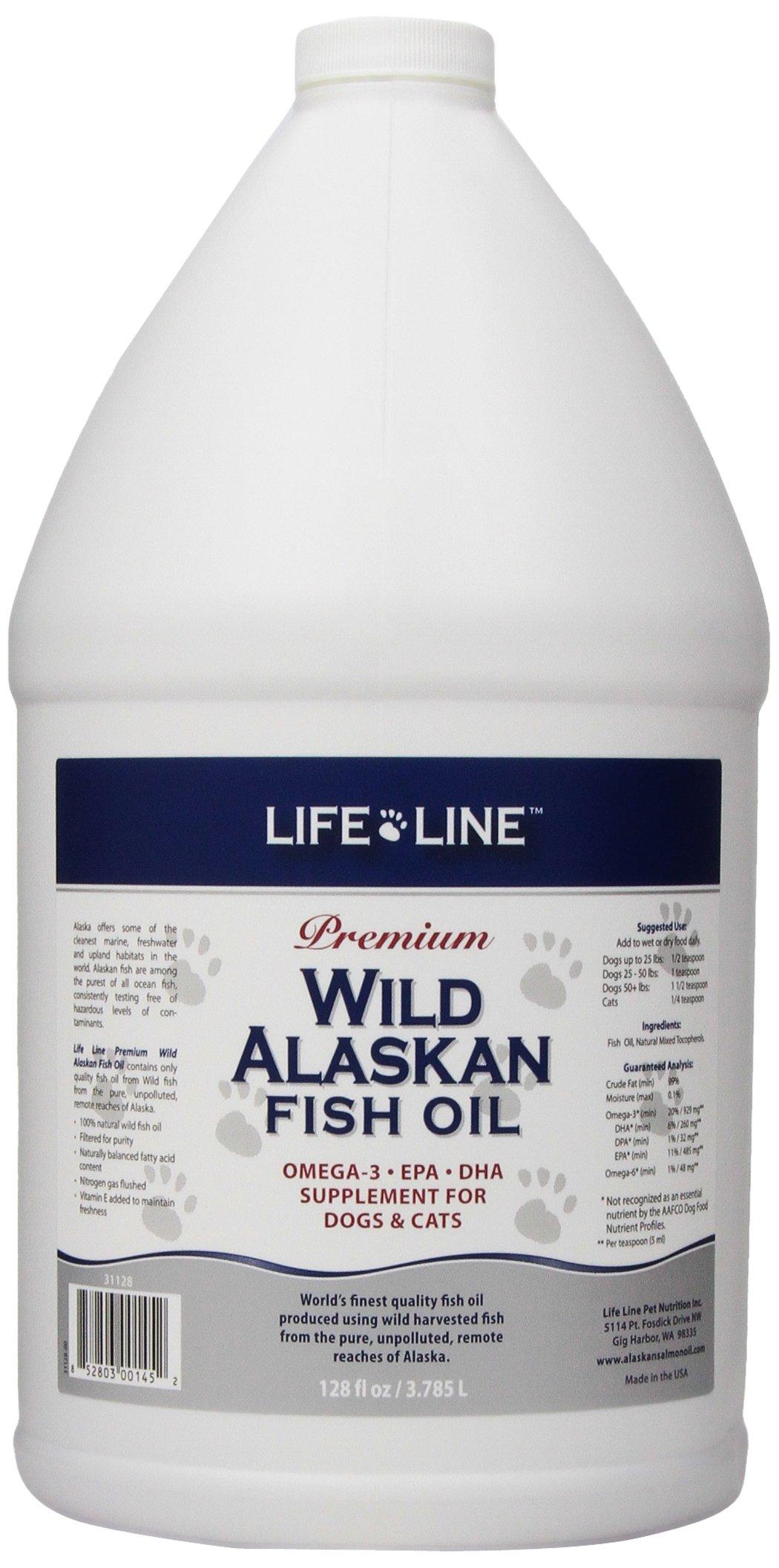 Life line wild alaskan fish oil 128 ounce chickadee for Quality fish oil