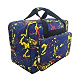 Sewing Machine Carrying Case Tote Bag,Padded Storage Cover Carrying Case with Pockets and Handles ,Canvas ,Universal Sewing Machine Bag with Pockets(Navy Blue) (Color: Navy Blue)