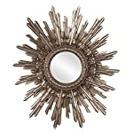 Howard Elliott 84008 Chelsea Antique Starburst Mirror, Silver