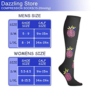 Compression Socks 15-20 mmHg is Best Athletic & Medical for Men & Women Running Flight Travel Nurses Pregnant (04 Purple/Blue/Black, Small/Medium (US Women 5.5-8.5/US Men 5-9)) (Color: 04 Purple/Blue/Black, Tamaño: Small/Medium (US Women 5.5-8.5/US Men 5-9))
