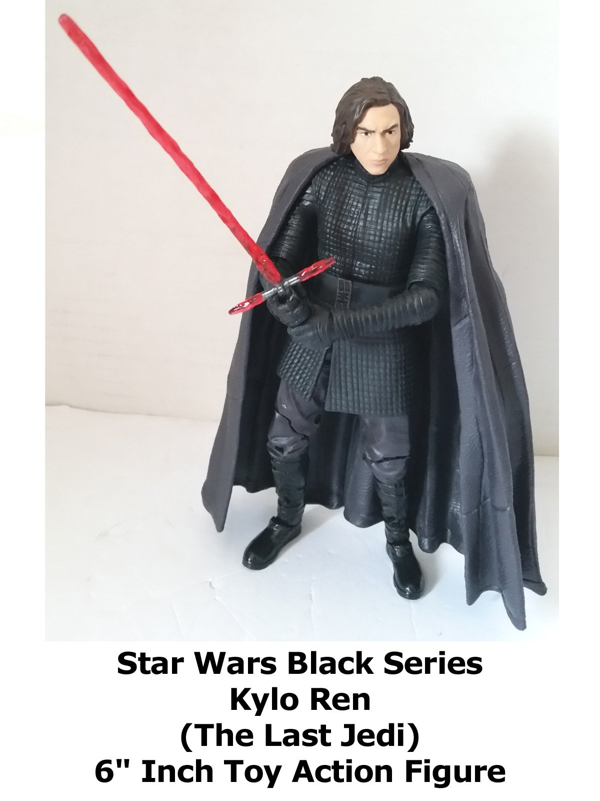 "Review: Star Wars Black Series Kylo Ren (The Last Jedi) 6"" Inch Toy Action Figure"