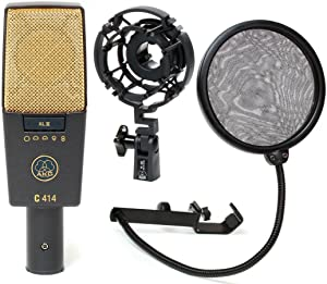 AKG C414 XL II/ST Stereo Condenser Microphone (Matched Pair) with 1 Year Free Extended Warranty