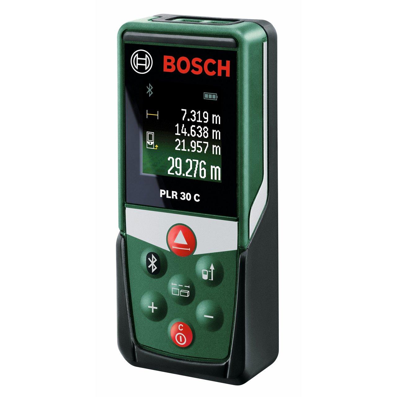 bosch plr 30 c digital laser measure measuring up to 30. Black Bedroom Furniture Sets. Home Design Ideas