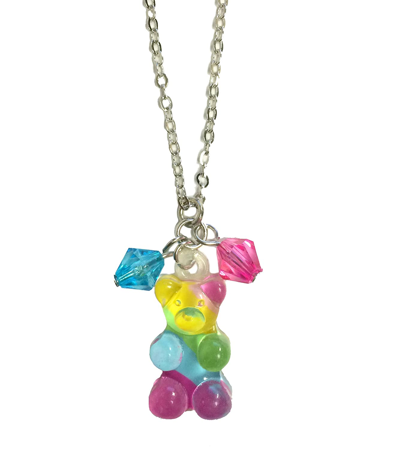 Candy Charms Jewelry Gummy Bear Candy Rainbow Charm