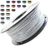 Melca 1.75 3D Printer Filament PLA 1kg +/- 0.03mm, Silver (#A5A5A5)