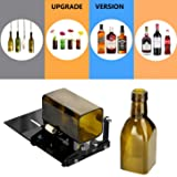 YOSWAN Glass Bottle Cutting Tool Upgrade Version Square and Round Wine Beer Glass Sculptures Cutter for Hand Tool Better Cutting Control Create Glass Flowerpot Making (Upgrade Version Black) (Color: Upgrade Version Black)